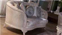 ספה יוקרתית בהירה  - אלבור רהיטים