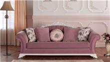 ספה בורוד ולבן - אלבור רהיטים