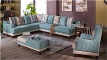ספה פינתית תכלת - אלבור רהיטים