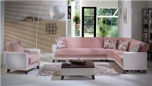 ספה פינתית ורדרדה - אלבור רהיטים