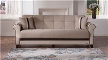 ספה נפתחת חומה - אלבור רהיטים