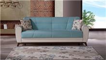 ספה תלת מושבית תכלת