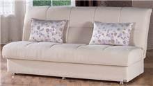 ספה נפתחת לבנה - אלבור רהיטים