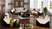 סלון בשחור ושמנת - אלבור רהיטים