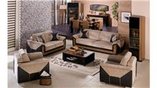 סלון בחום ושחור - אלבור רהיטים