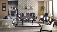 סלון באפור ולבן - אלבור רהיטים