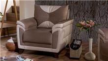 כורסא בחום ולבן - אלבור רהיטים
