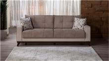 ספה תלת מושבית בחום - אלבור רהיטים