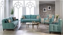 סלון מרשים בתכלת - אלבור רהיטים