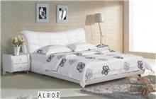 מיטה זוגית לבנה - אלבור רהיטים