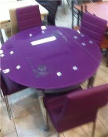 שולחן מזכוכית - אלבור רהיטים