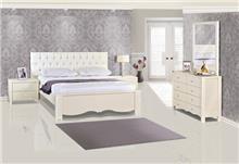 חדר שינה קפיטונאג' שמנת - אלבור רהיטים