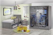חדר ילדים אפור - אלבור רהיטים
