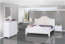 חדר שינה קפיטונאג' לבן - אלבור רהיטים