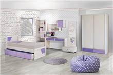 חדר בנות מעוצב - אלבור רהיטים