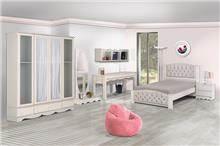 חדר בנות מפנק - אלבור רהיטים