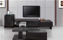 מזנון ושולחן שחורים - אלבור רהיטים