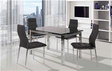 שולחן שחור לפינת אוכל - אלבור רהיטים