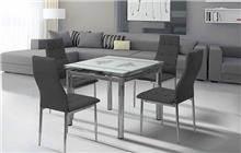 שולחן אוכל מזכוכית - אלבור רהיטים