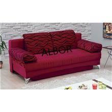 ספה נפתחת אדומה daisy - אלבור רהיטים