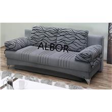 ספה אפורה דגם daisy - אלבור רהיטים