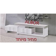 מזנון לבן מעוצב אפוקסי  - אלבור רהיטים
