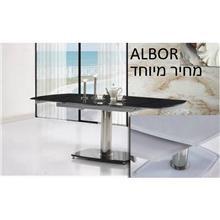 שולחן פינת אוכל מעוצב שחור לבן - אלבור רהיטים