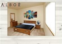 מיטה זוגית מעץ מלא דגם חנית - אלבור רהיטים