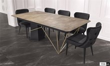 שולחן עם רגל מיוחדת דגם TITAN - אלבור רהיטים