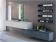 ארון אמבטיה בשילוב צבעים
