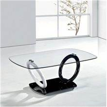 שולחן שחור לבן - כסא נדנדה