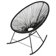 כיסא נדנדה שחור - כסא נדנדה
