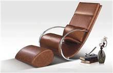 כורסאות מעוצבות מעור - כסא נדנדה