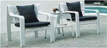 פינת ישיבה לבנה - כסא נדנדה