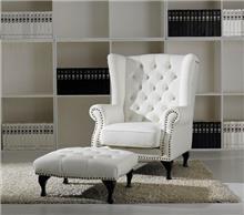 כורסה לבנה - כסא נדנדה