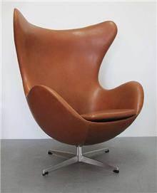 כורסא דמוי עור - כסא נדנדה