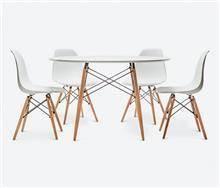 שולחן + 4 כיסאות שי - כסא נדנדה