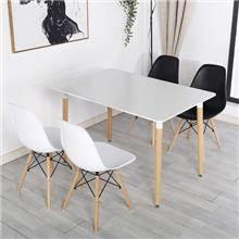 סט פינת אוכל אסנסיו + 4 כיסאות - כסא נדנדה