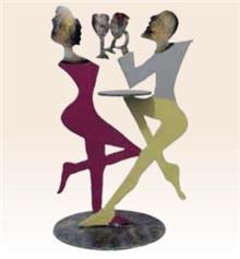 פסל זוג במסעדה