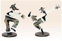 פסל ריקוד חסידי