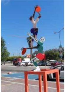 פסל חוץ שחקני כדורסל