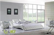 מיטה זוגית לבנה ויקה