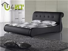 מיטה מעוגלת שחורה