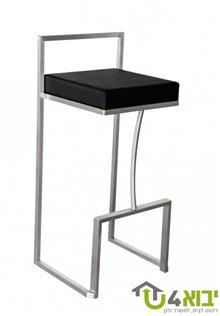 כיסא בר שחור מנירוסטה