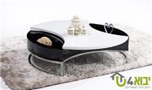 שולחן סלון שחור לבן אינפיניטי