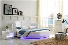 מיטה זוגית עגולה לג'נד - יבוא 4 יו