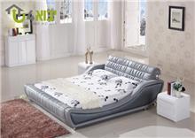 מיטה זוגית מעוצבת דגם מלודי עם תאורת לילה