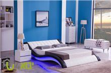 מיטה מרופדת ומעוצבת דגם גל