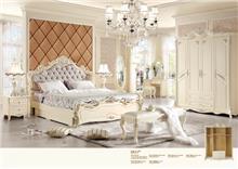 מיטה זוגית מעוצבת בסגנון וינטאז' 8811
