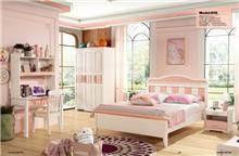 חדר שינה ורוד לבן- 608